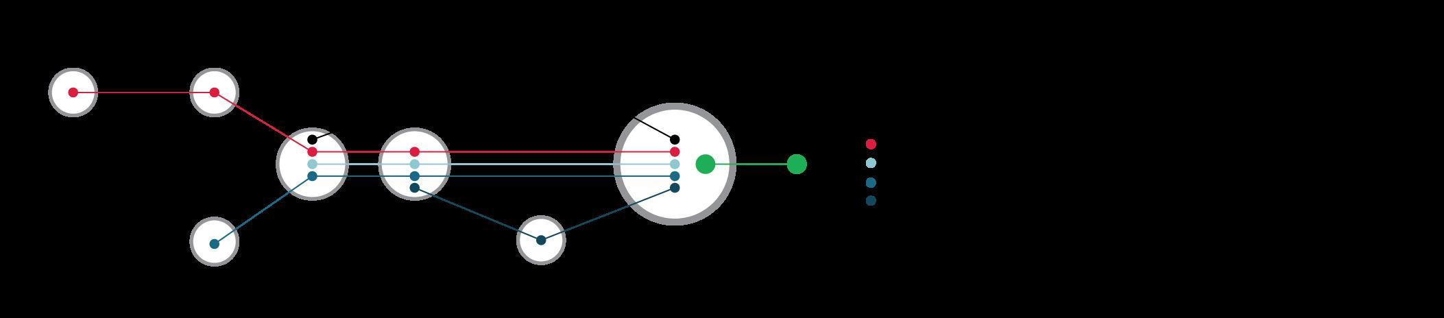 Схематическое изображение линий гранулирования на базе пресса ОГМ