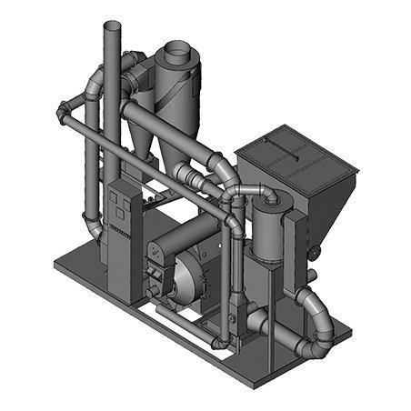 Блок гранулирования на базе пресса ОГМ-0,8
